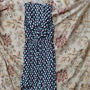 Bebop Size S blk shirtdress w/ turq/ fushia birds